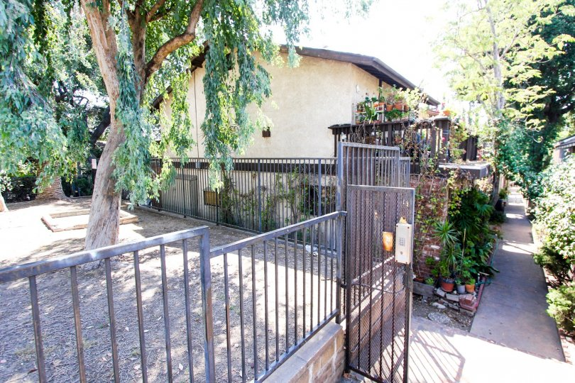 The gate into 1415 El Sereno in Pasadena, California