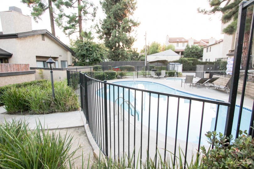 The pool at 1484 Corson St in Pasadena, California