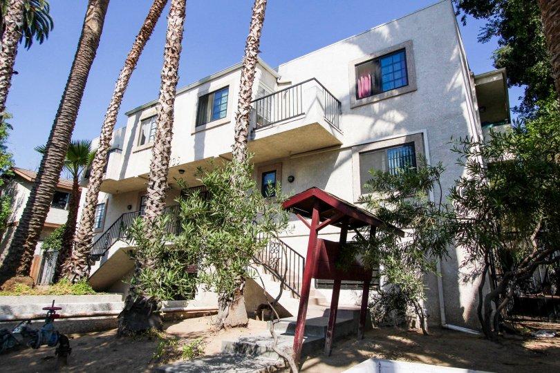 The balconies at 736 N Garfield Ave in Pasadena, California