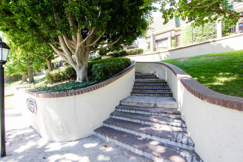 The stairs leading up to 885 S Orange Grove Blvd in Pasadena, California