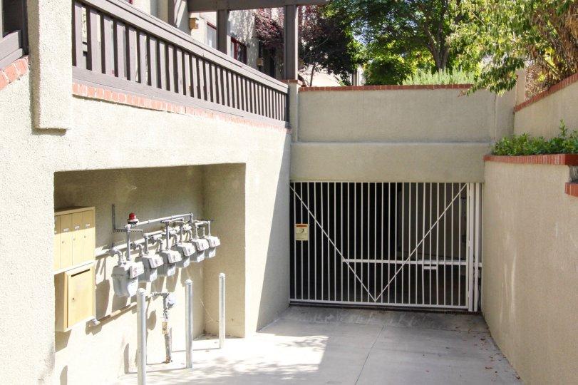 The parking garage for Alpine Western Villa