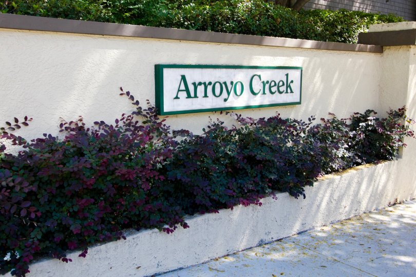 The sign welcoming you to Arroyo Creek