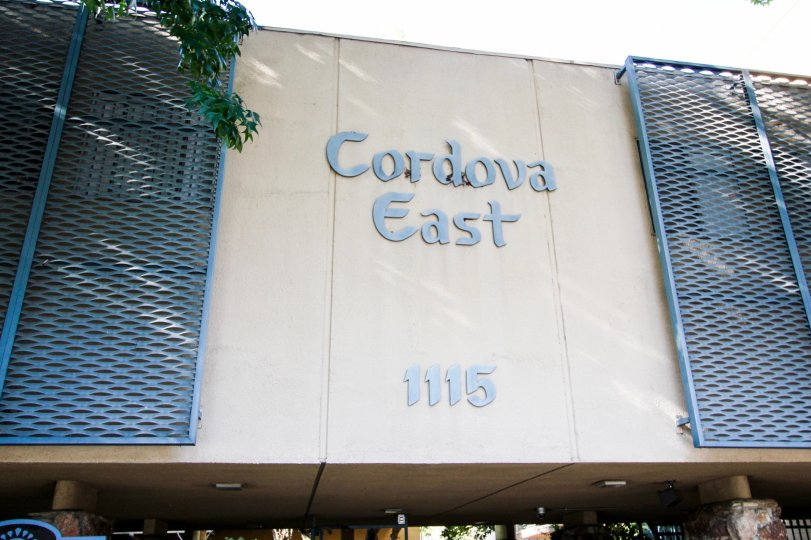 The name and address of the Cordova East building