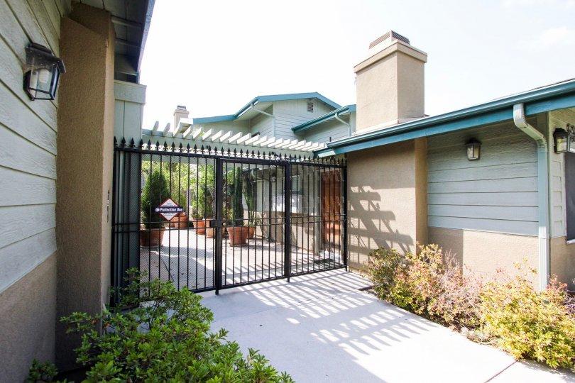 The gate into Daisy Garden in Pasadena, California
