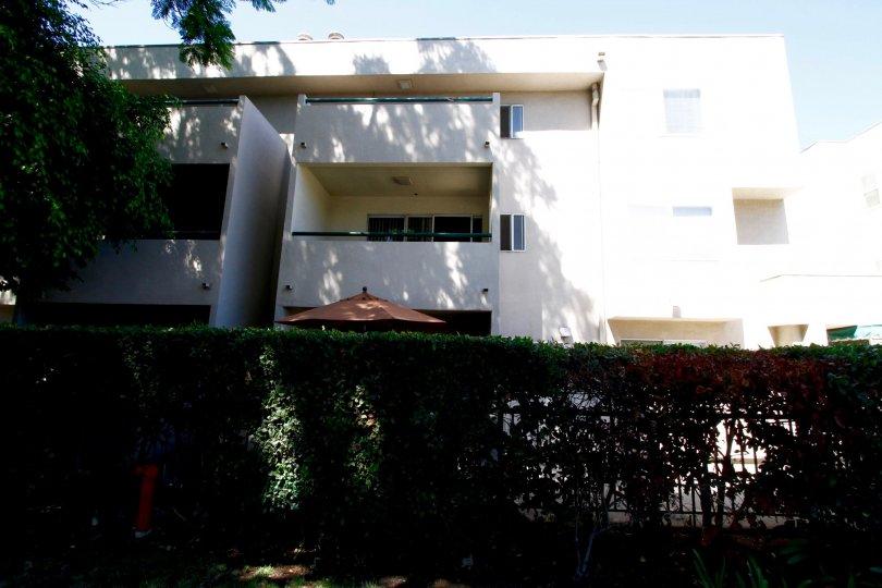 The balconies seen in the Del Mar Court building in Pasadena, California