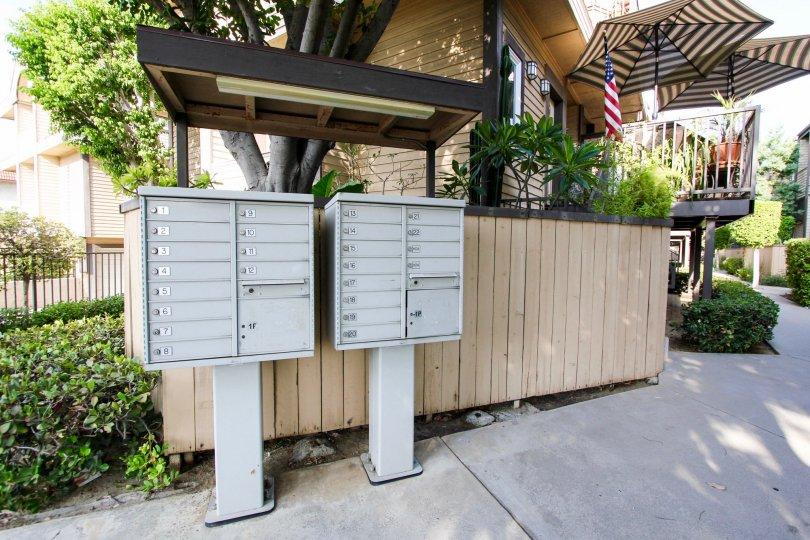 The mail center at Greenwood Village in Pasadena, California