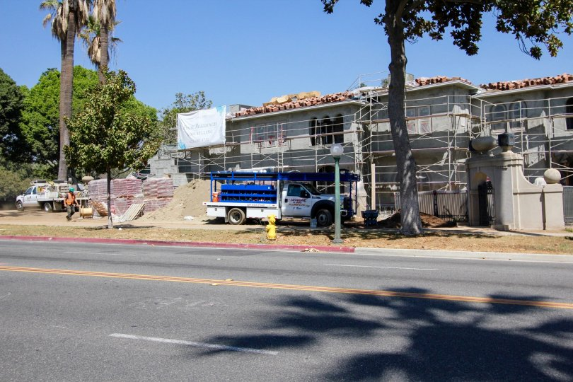 The construction happening at Jamieson Place in Pasadena, California