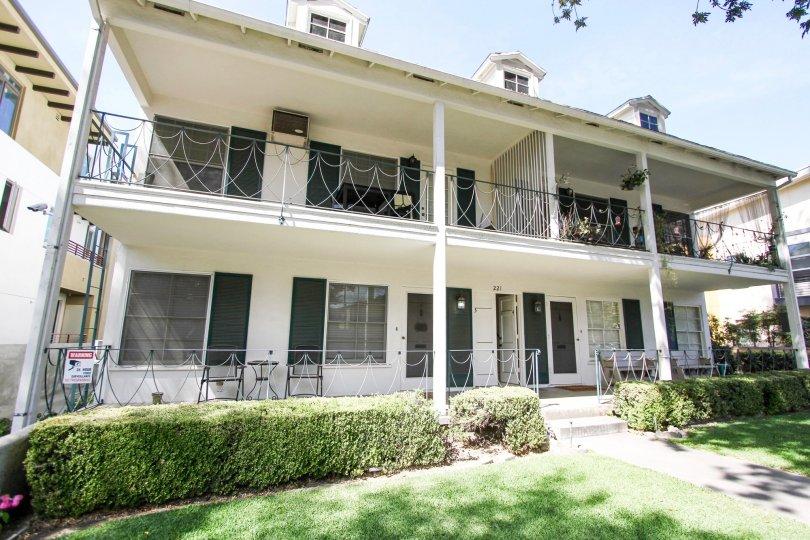 The terraces seen at Monticello Manor in Pasadena, California