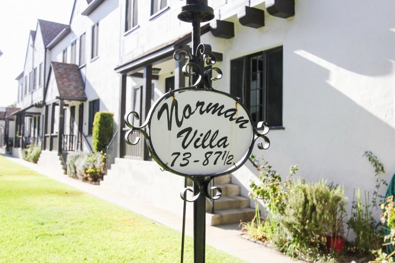 The Norman Villa sign