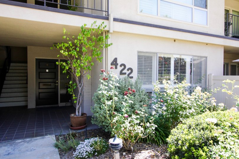 The address on the Orange Grove Crest building in Pasadena, California