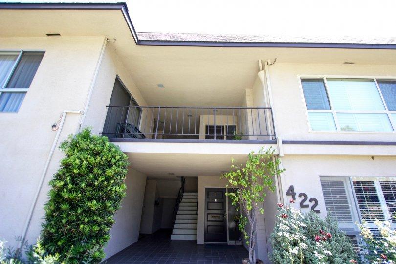 The terrace at Orange Grove Crest in Pasadena, California