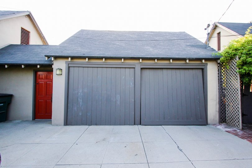 The garage at Orange Grove Terrace