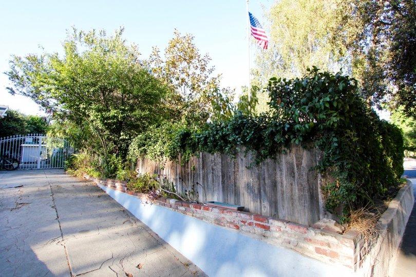 The landscaping around Orange Grove Terrace