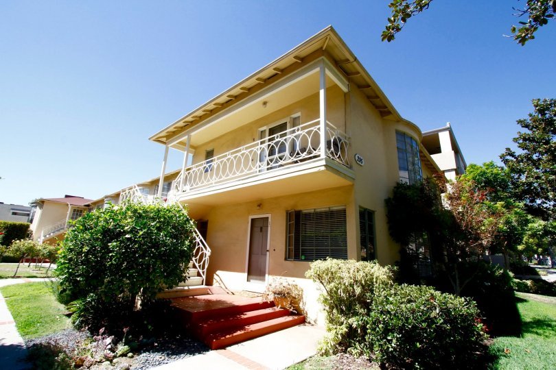 The balcony seen at Park Lane in Pasadena, California