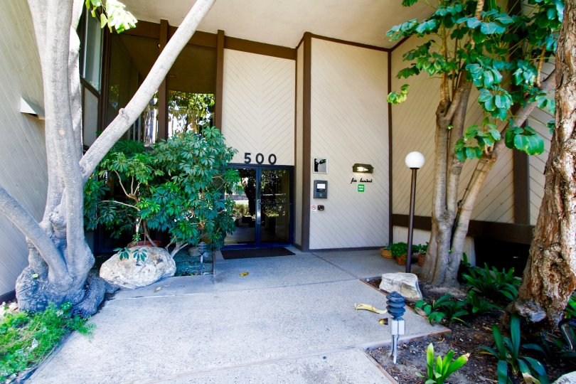 The entrance into Parkwood Townhomes