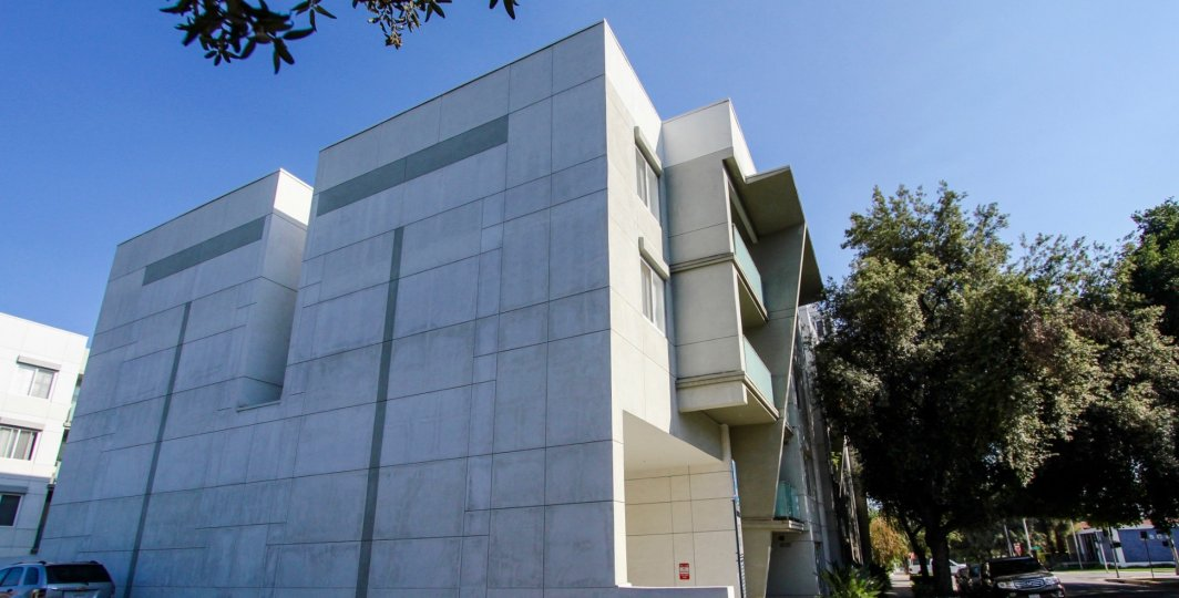 The structure of the Pasadena Collection West in Pasadena, California