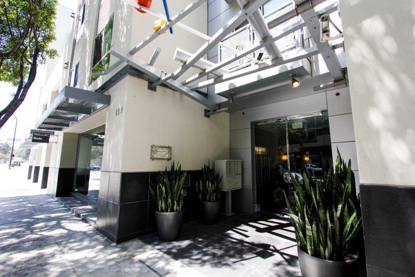 The entrance into Pasadena Place in Pasadena, California