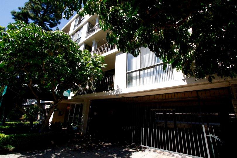 The parking garage for residents of Regency Del Mar