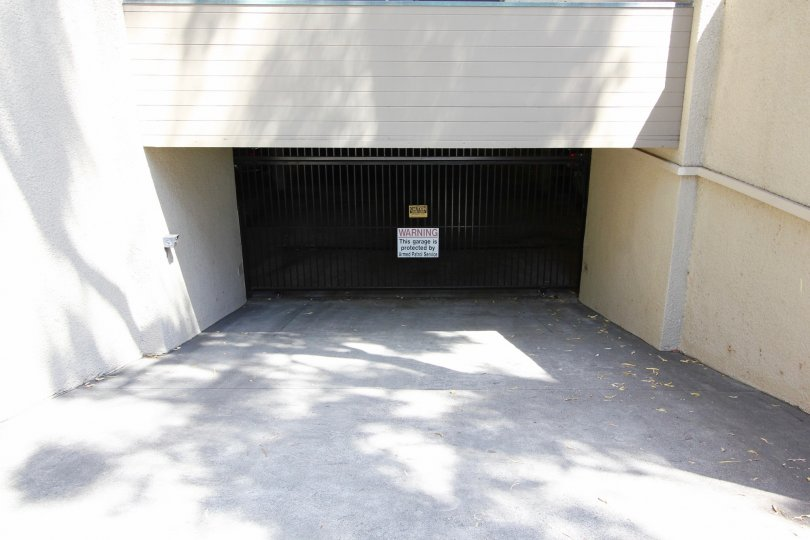 The parking garage for residents at the Vista Grande