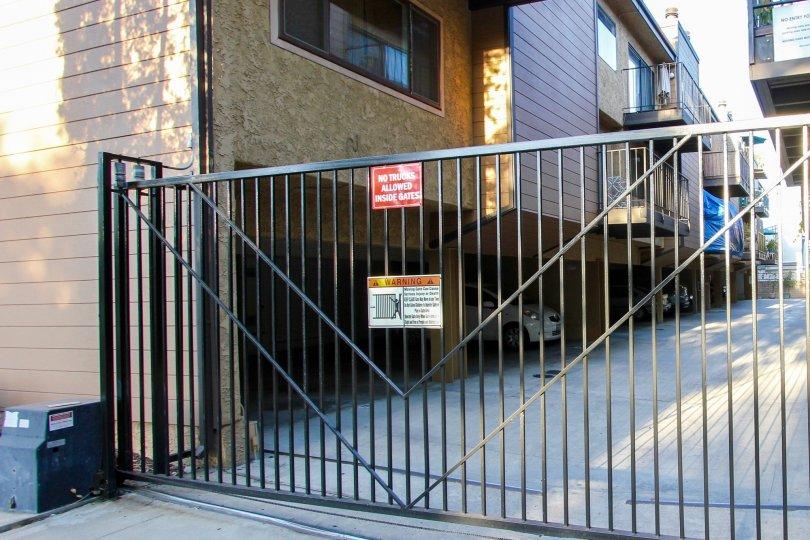 The gate into the Wilson Manor in Pasadena, California