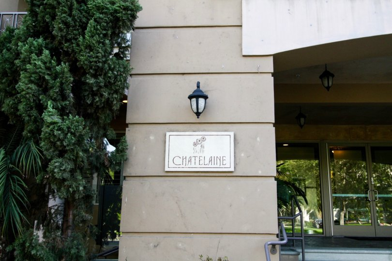 The welcoming sign into Chatelaine