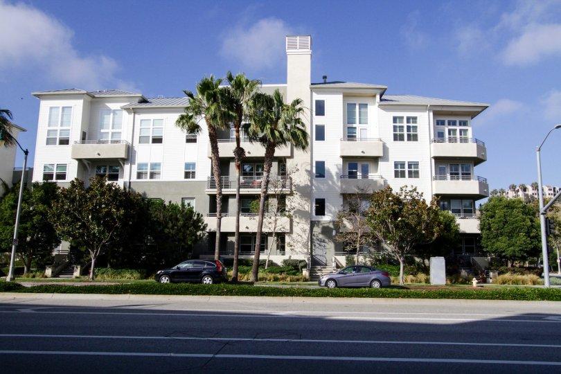 The landscaping seen around the Coronado Playa Vista
