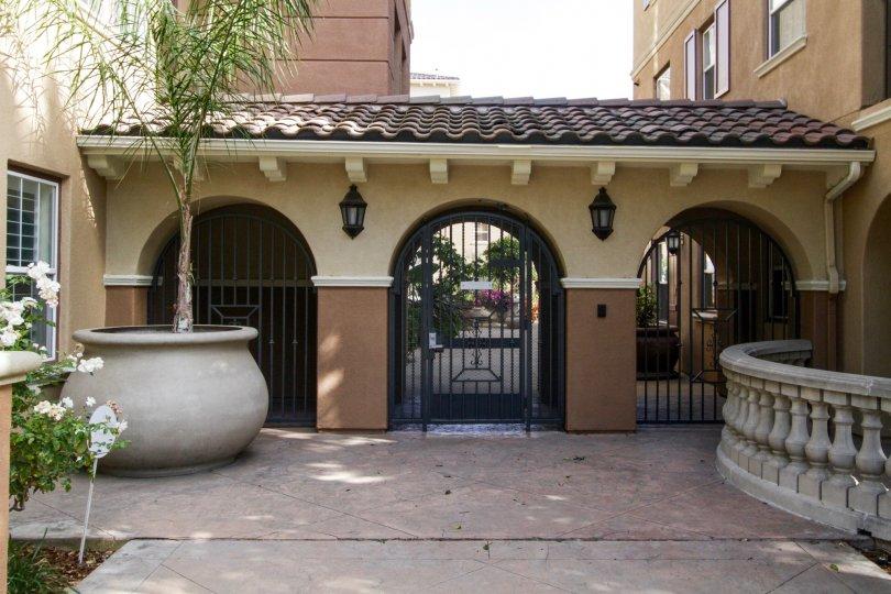 The gates at Esplanade in Playa Vista