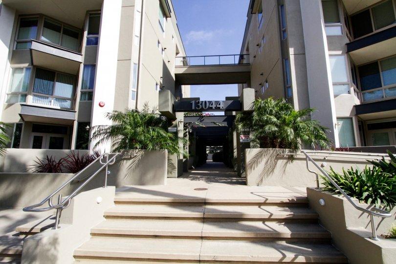 The entryway into Promenade Playa Vista