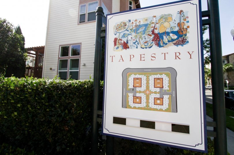 The sign welcoming you into Tapestry I in Playa Vista