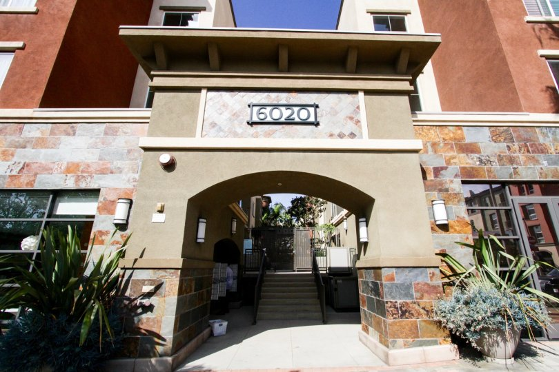 The entryway into Tempo Playa Vista