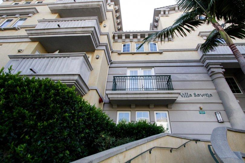 The balcony at Villa Savona