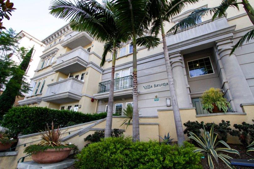 The lettering on the Villa Savona building in Playa Vista