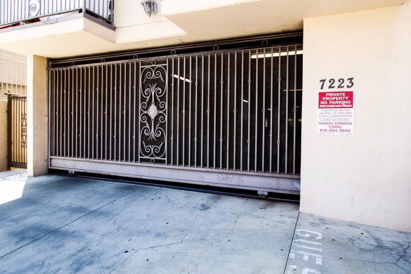 The parking for Baird Luxury Condos in Reseda California