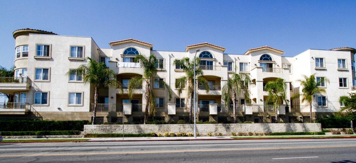 The Corbin Villas building in Reseda California
