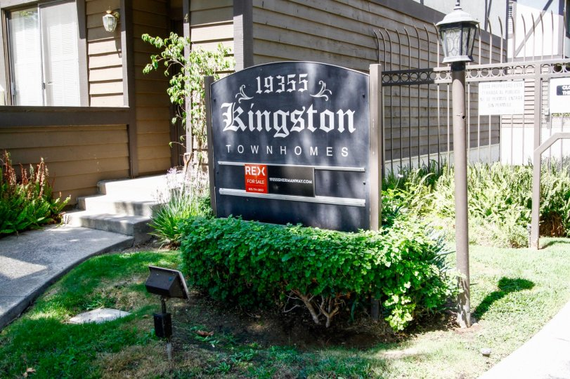The sign announcing Kingston Townhomes