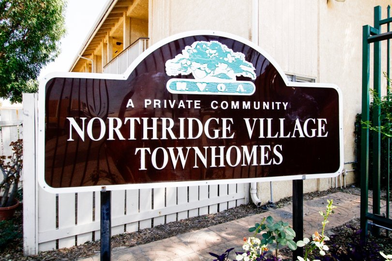 The sign for Northridge Village in Reseda California