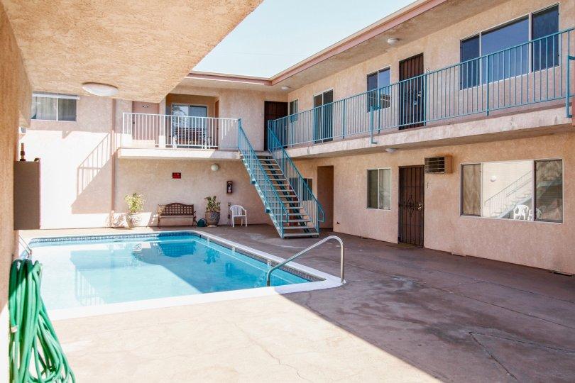 The pool at the Royal Tampa in Reseda California