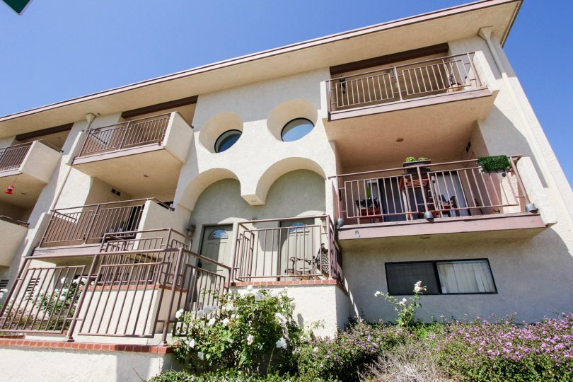 The balconies seen at 676 Shepard St in San Pedro California