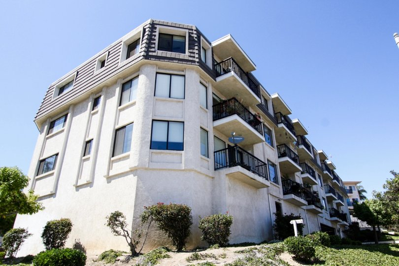 The balconies at Grande Harbour Pointe in San Pedro California