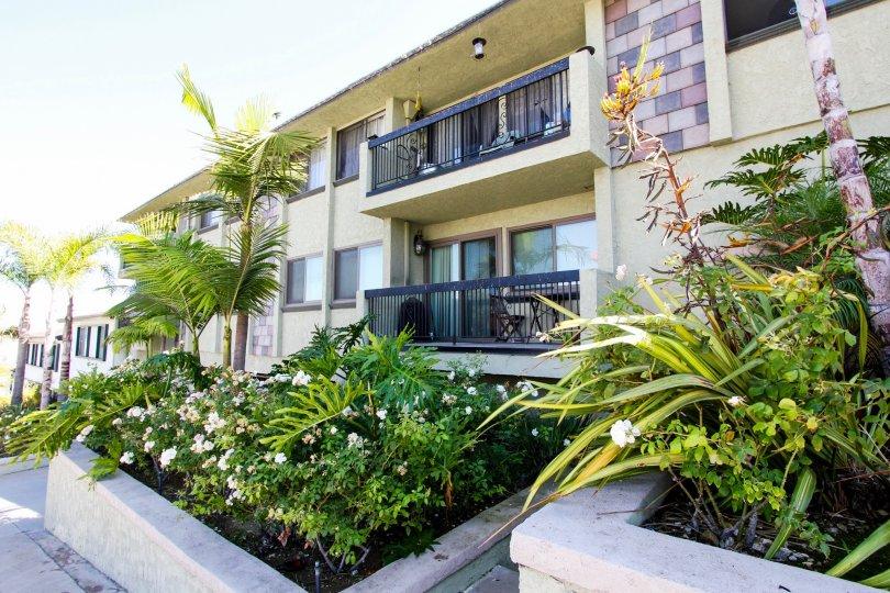 The balconies at Harbor View Villas in San Pedro California