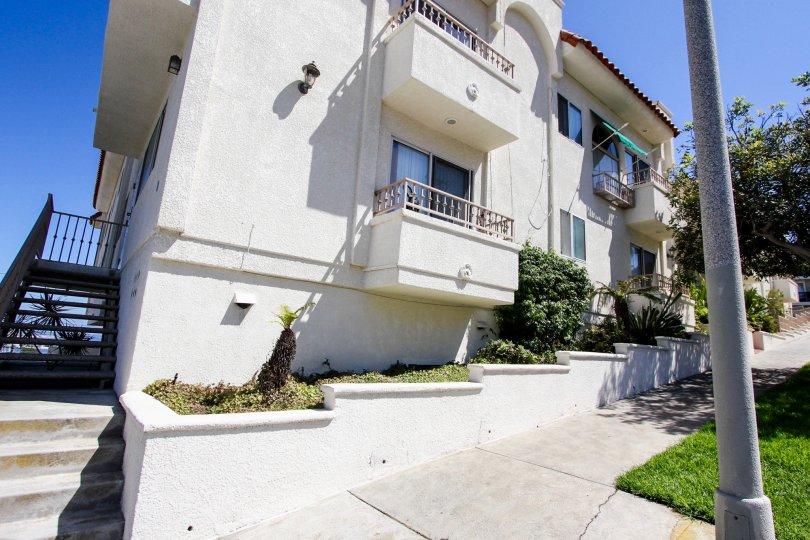 The balconies at Harbor Vista in San Pedro California
