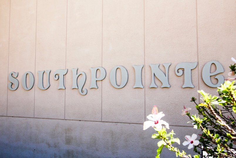 The Southpointe name on the building in San Pedro California