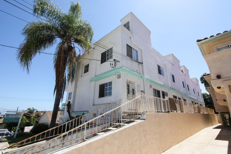 The Upper Deck Townhomes building in San Pedro California