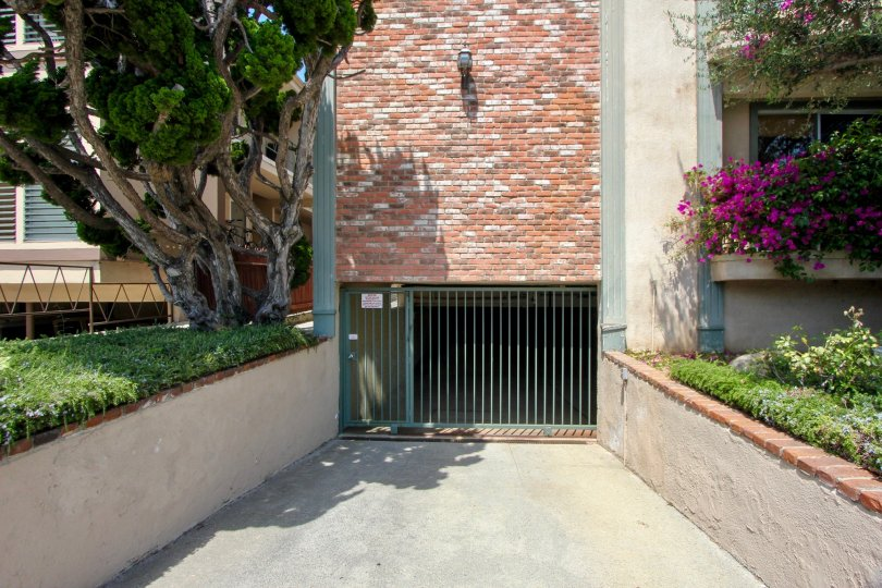 Access to the parking garage at the 1021 5th St community