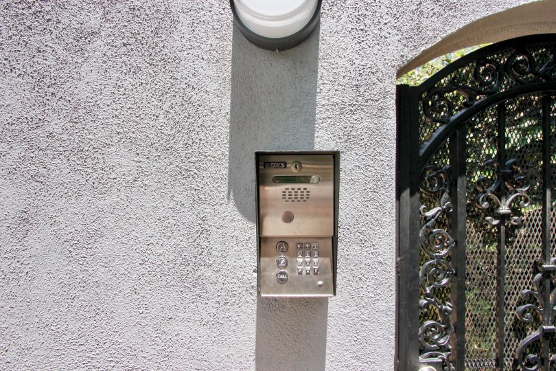 The entrace of a house with intercom facility in 1419 15th St