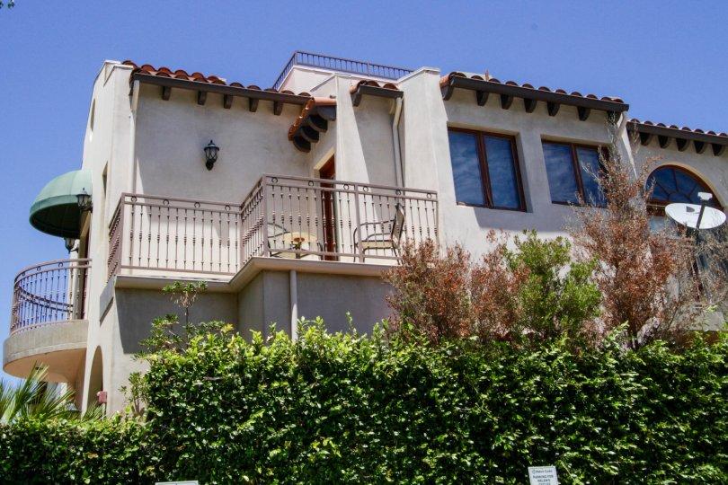 The balcony at 1445 25th Street in Santa Monica