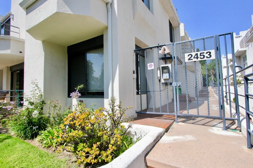 A gated entrance to a home in Santa Monica provides added security and privacy