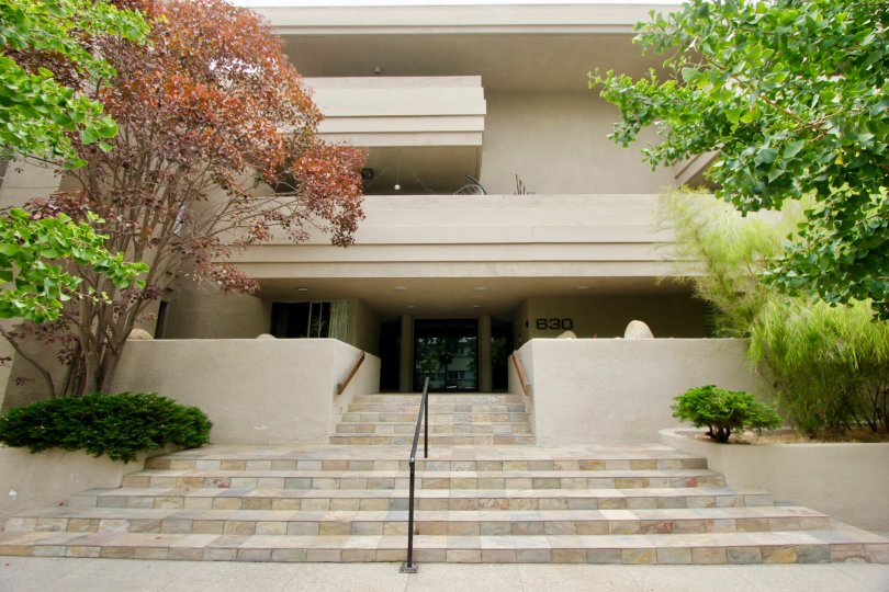 Elegant stairway to the amazingly 630 Idaho community, Santa Monica