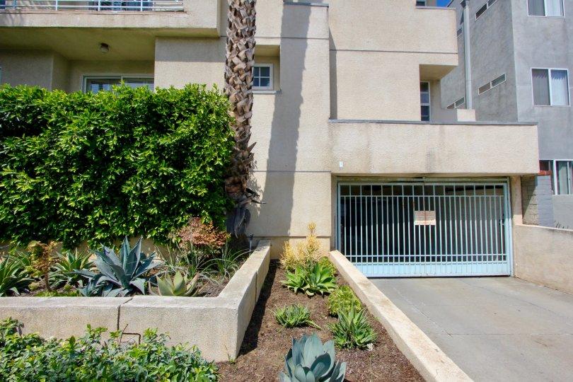Gated parking garage at Imperial in Santa Monica California