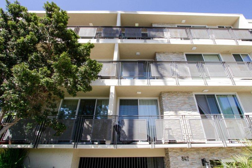The balconies at Lark Villas in Santa Monica